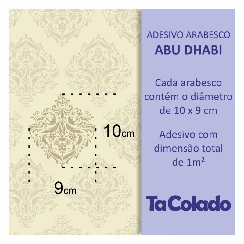 Papel de Parede Arabesco Abu Dhabi Creme  - TaColado