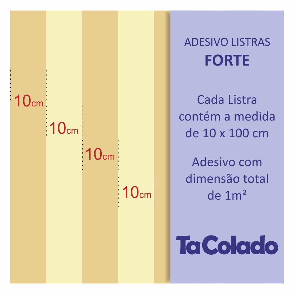 Papel de Parede Listras Fortes Azul Marinho  - TaColado
