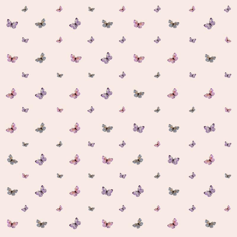 Papel de Parede Borboletas Rosa Claro  - TaColado