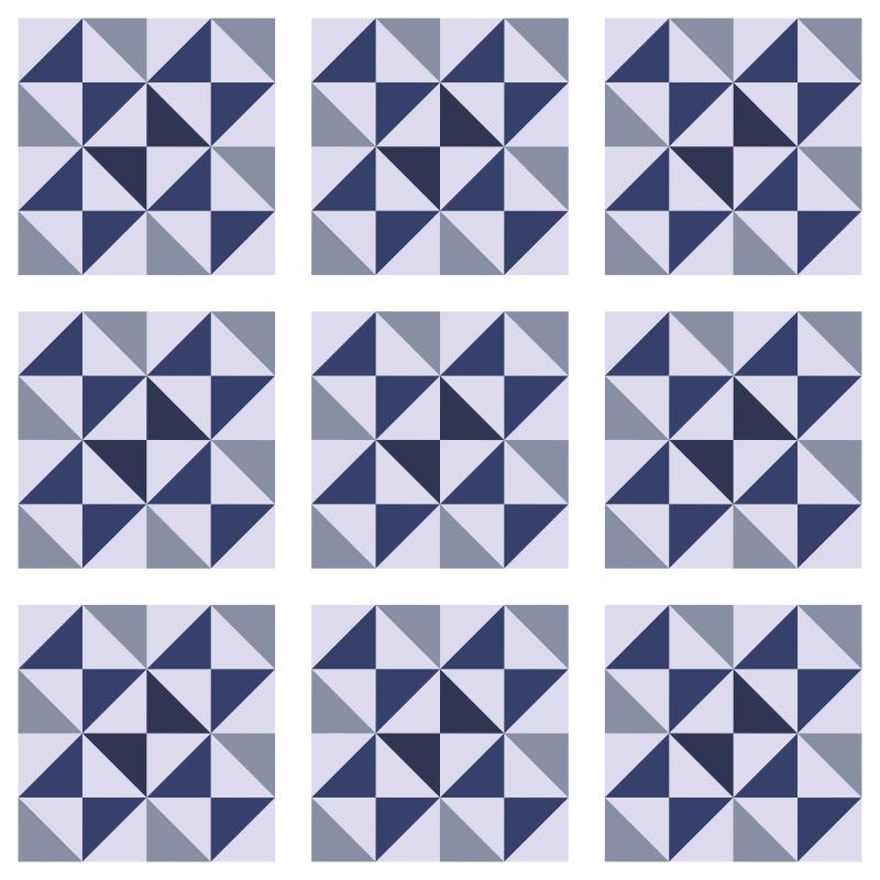 Revestimento Adesivo Azulejo Delta Azul  - TaColado