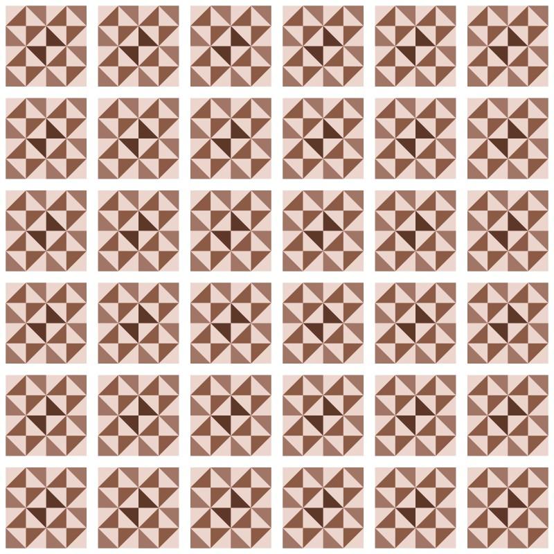 Revestimento Adesivo Azulejo Delta Marrom  - TaColado