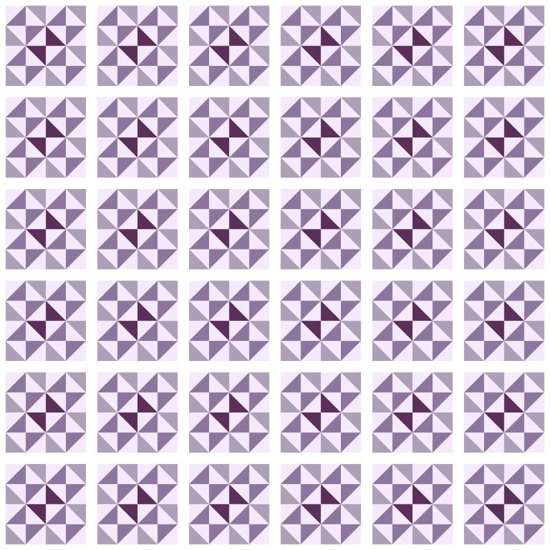 Papel de Parede Azulejo Delta Roxo  - TaColado