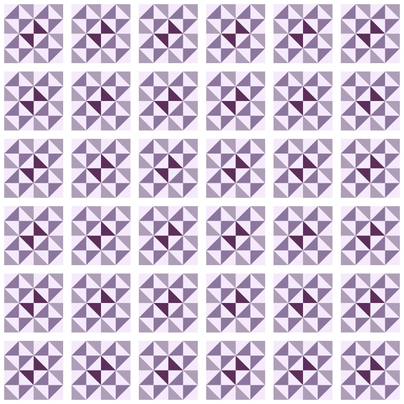 Revestimento Adesivo Azulejo Delta Roxo  - TaColado
