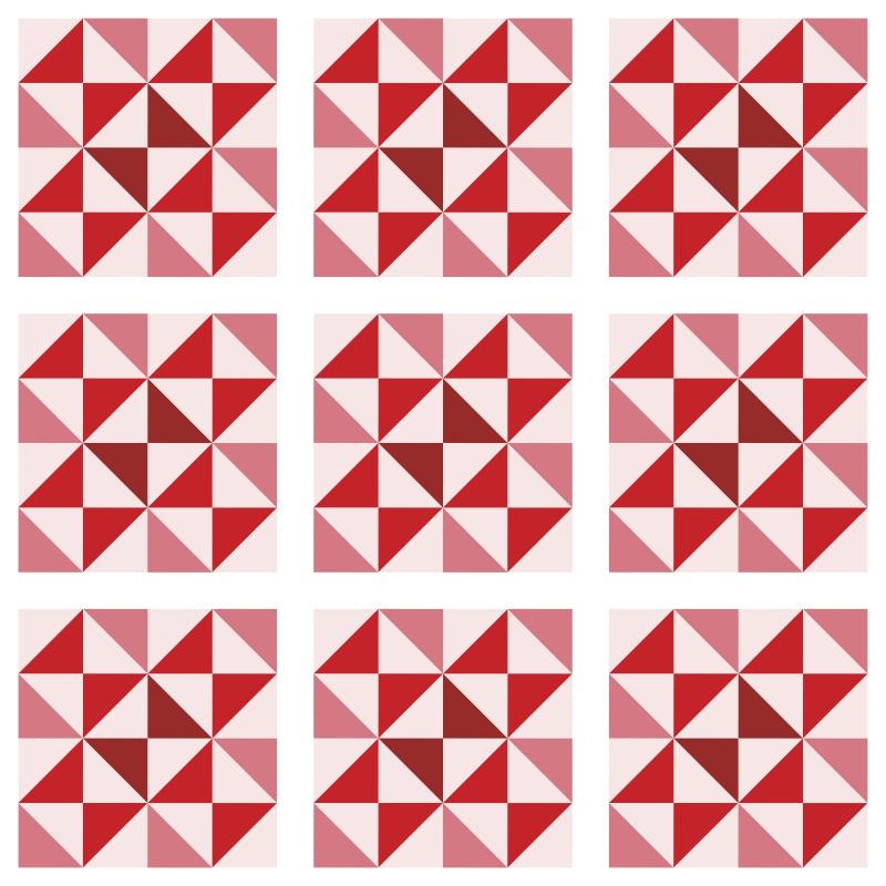 Revestimento Adesivo Azulejo Delta Vermelho  - TaColado