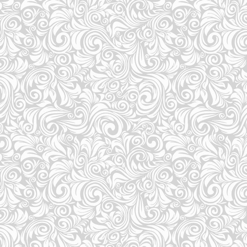 Papel de Parede Floral Florença Cinza Claro  - TaColado