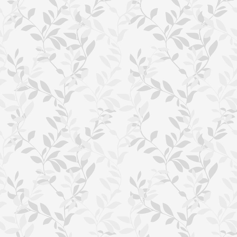 Papel de Parede Floral Folhas Cinza Claro  - TaColado