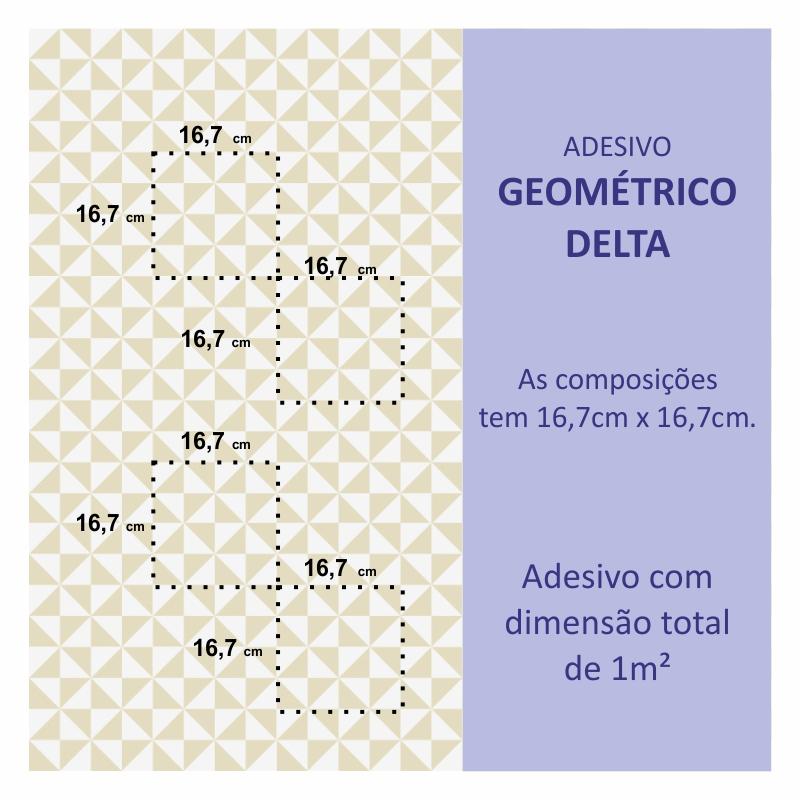 Papel de Parede Geométrico Delta Creme  - TaColado