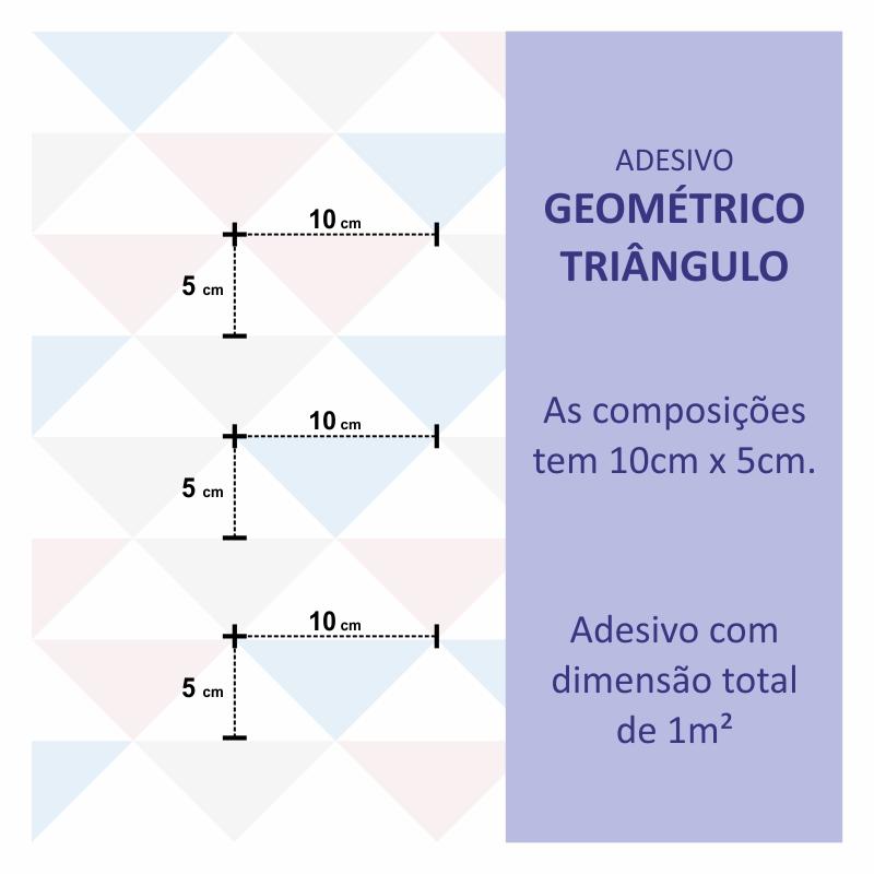 Papel de Parede Geométrico Triângulo Colorido  - TaColado