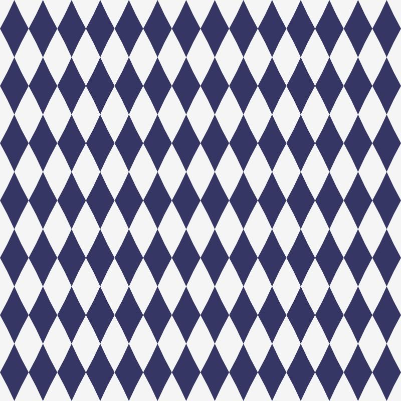Papel de Parede Geométrico Losango Azul Marinho  - TaColado