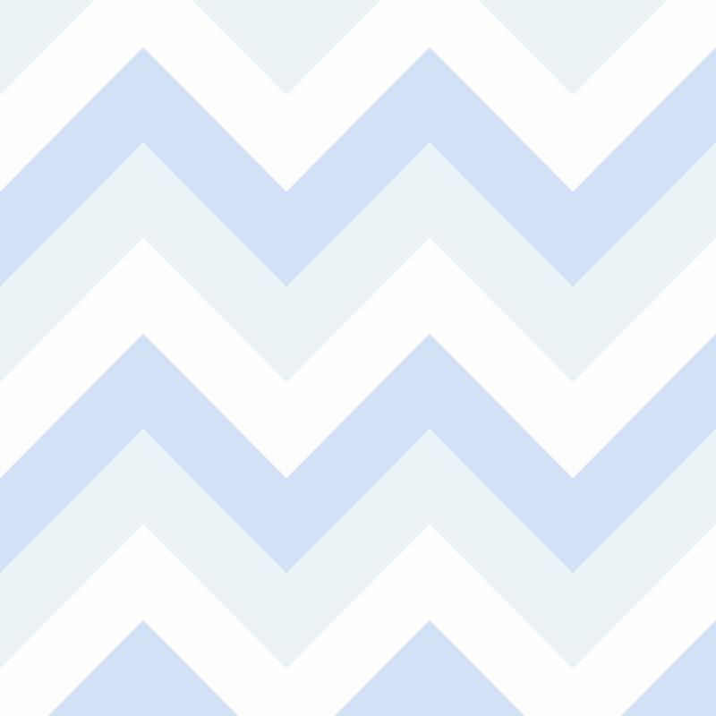 Papel de Parede Chevron Azul Claro  - TaColado