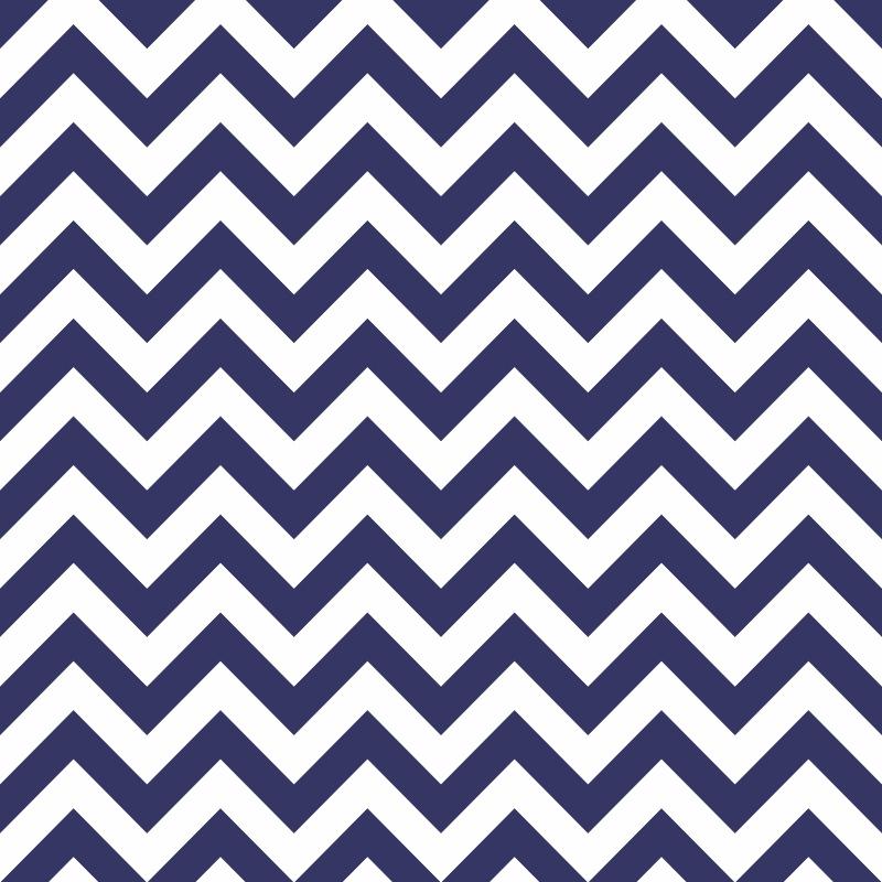 Papel de Parede Chevron Azul Marinho  - TaColado