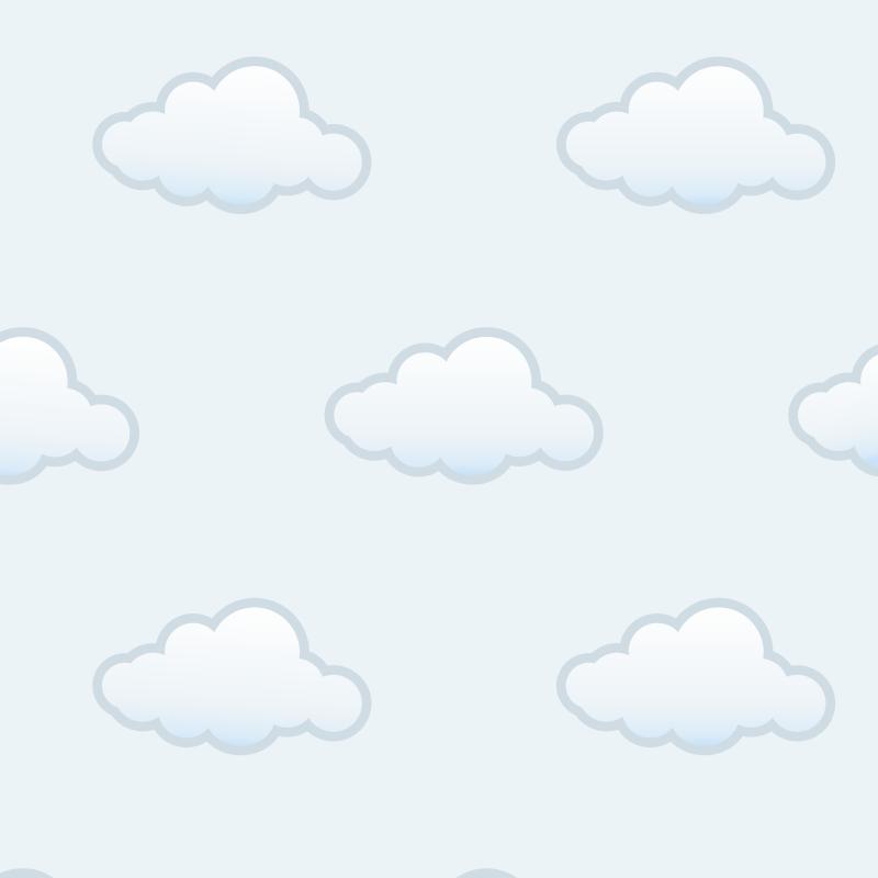 Papel de Parede Nuvens Azul Claro  - TaColado