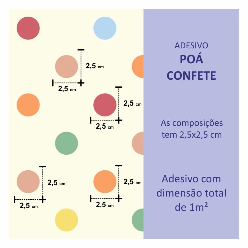 Papel de Parede Poá Confete  - TaColado