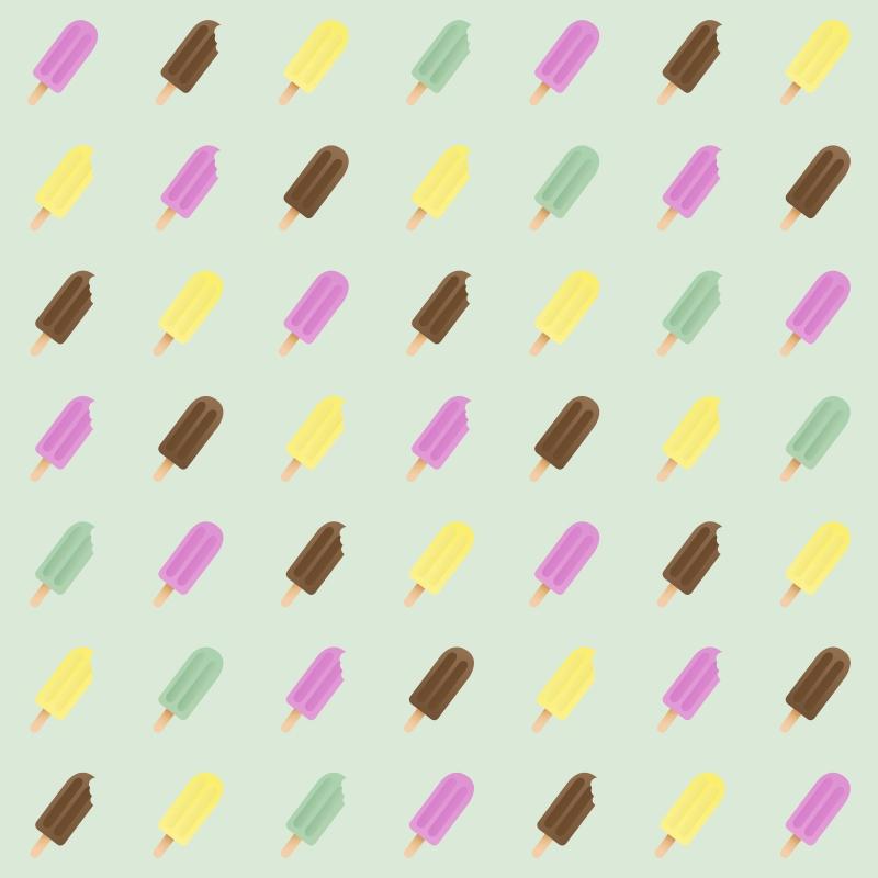 Papel de Parede Sorvetes  - TaColado