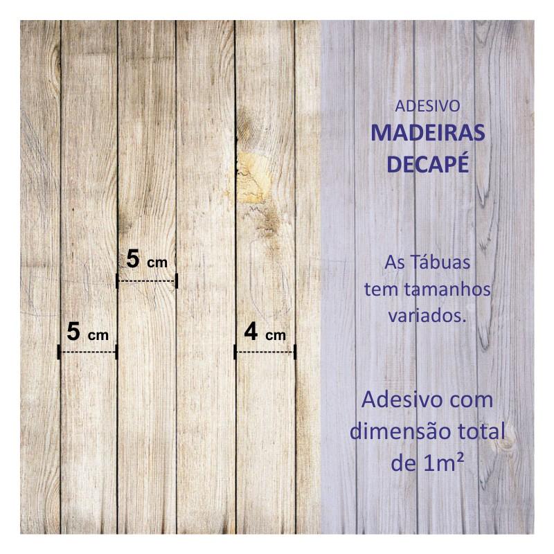 Revestimento Adesivo Madeira Decapé  - TaColado