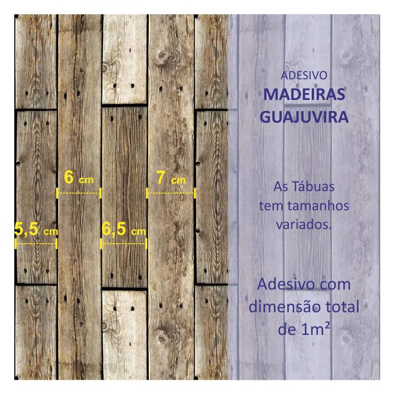 Revestimento Adesivo Madeira Guajuvira  - TaColado