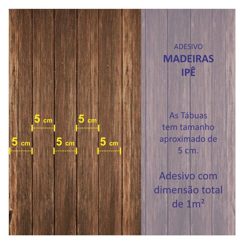 Revestimento Adesivo Madeira Ipê  - TaColado