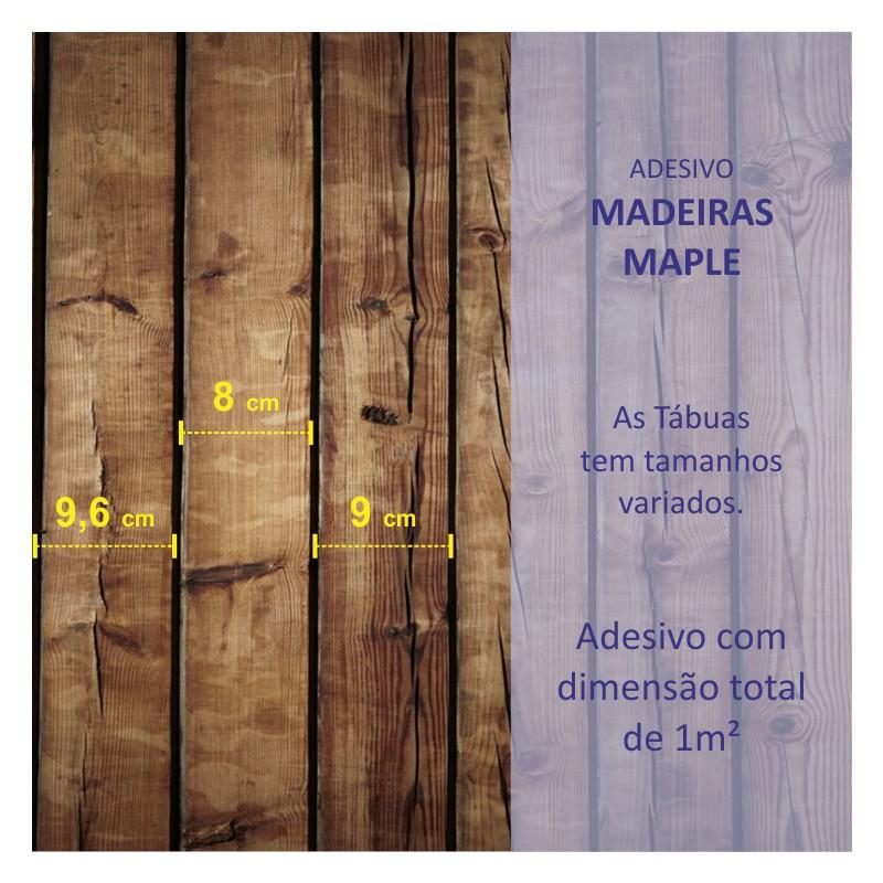 Revestimento Adesivo Madeira Maple  - TaColado