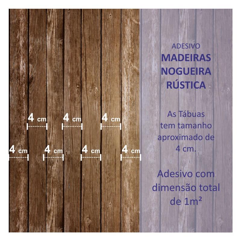 Revestimento Adesivo Madeira Nogueira  - TaColado