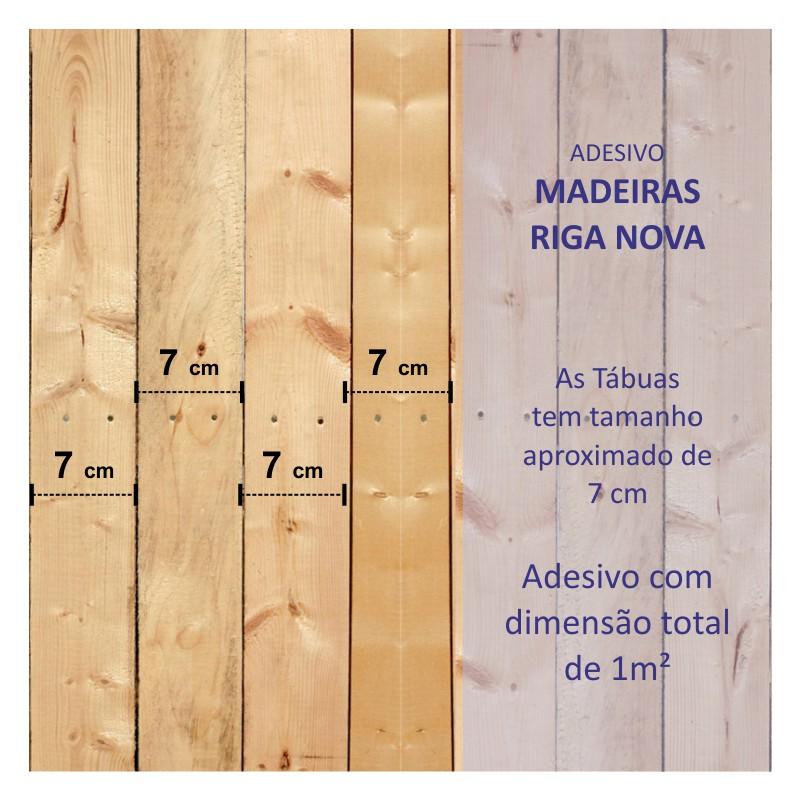 Revestimento Adesivo Madeira Riga Nova  - TaColado