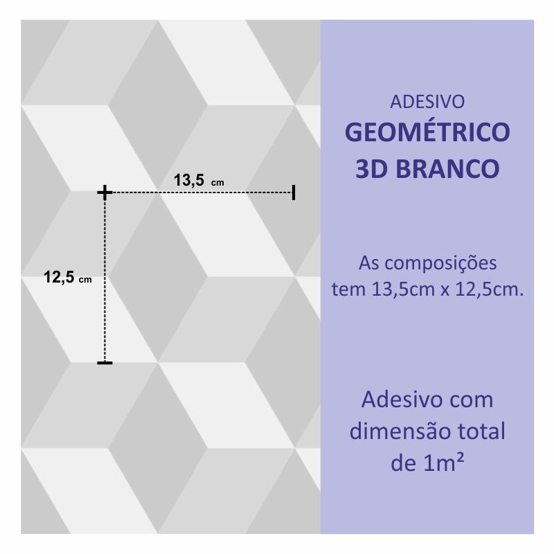 Papel de Parede Geométrico 3D Cinza Claro  - TaColado