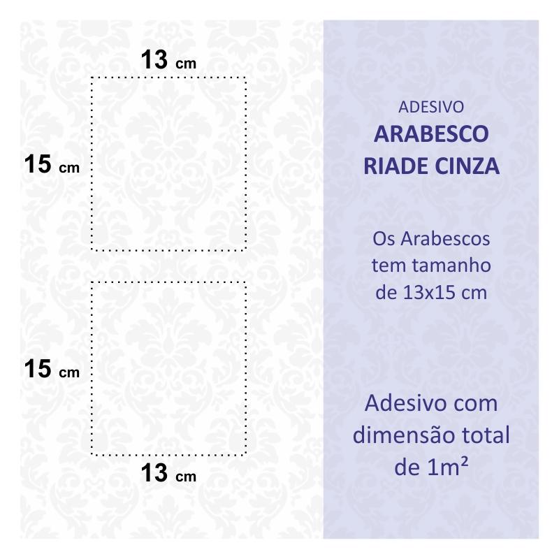 Papel de Parede Arabesco Riade Cinza  - TaColado