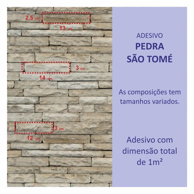 Revestimento Adesivo Pedra São Tomé  - TaColado
