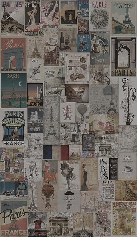 Papel de Parede Adesivo Paris Vintage  - TaColado