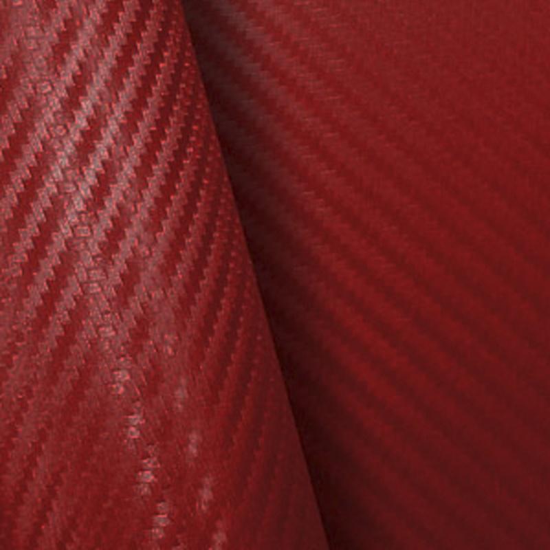 Retalho Fibra Carbono Vermelho  - TaColado