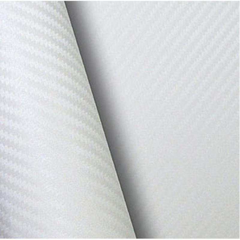 Retalho Fibra Carbono Branco  - TaColado