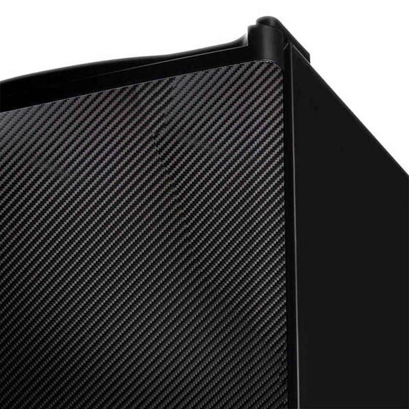 Adesivo Fibra De Carbono 4D Preto