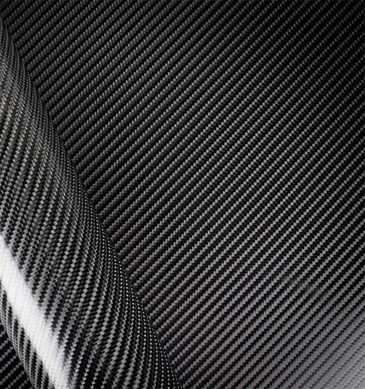 Adesivo Fibra De Carbono 4D Preto  - TaColado