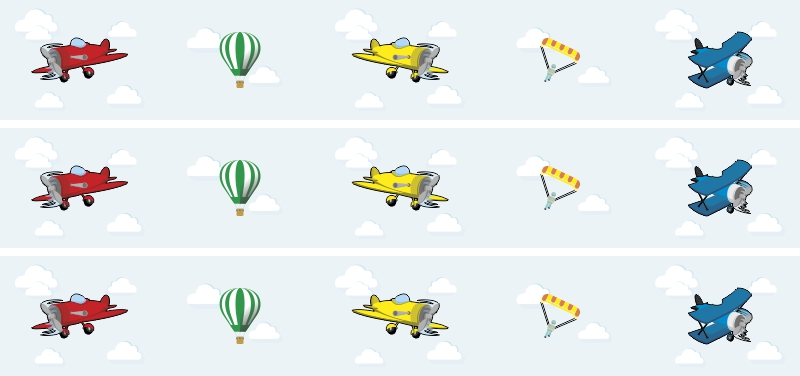Papel de Parede Border Aviões Azul Claro  - TaColado