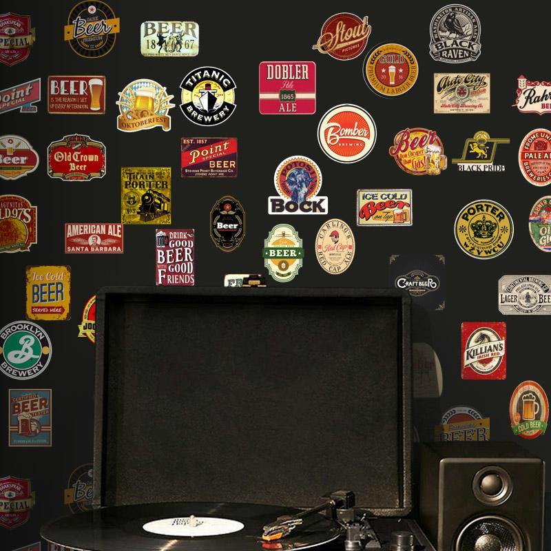 Adesivo Destacável Cerveja Vintage