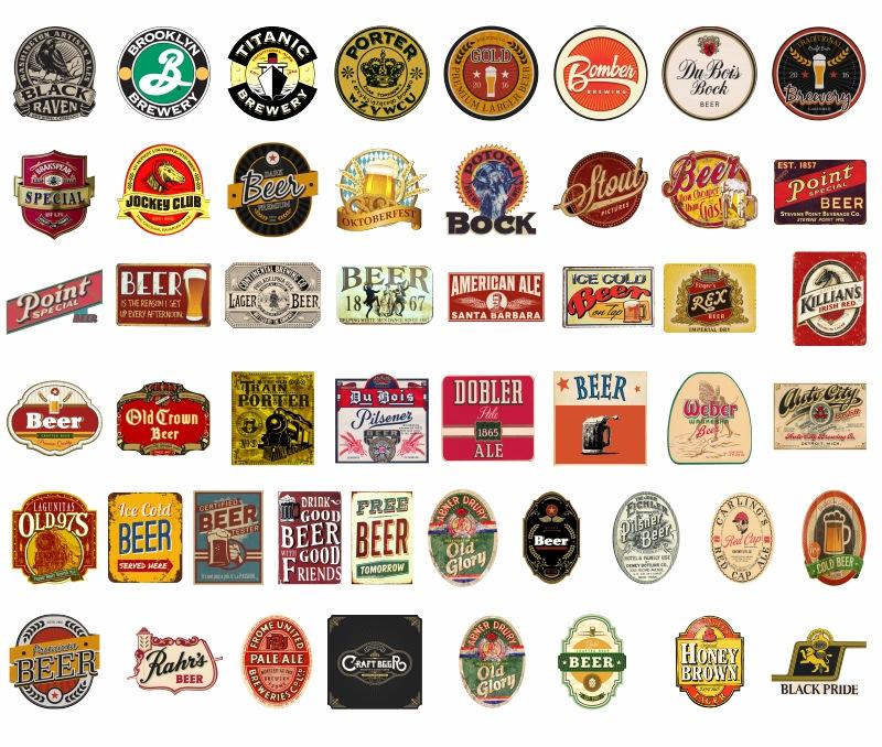 Adesivo Destacável Cerveja Vintage  - TaColado