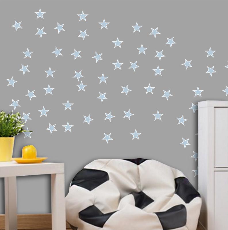 Adesivo Destacável Estrelas Azul