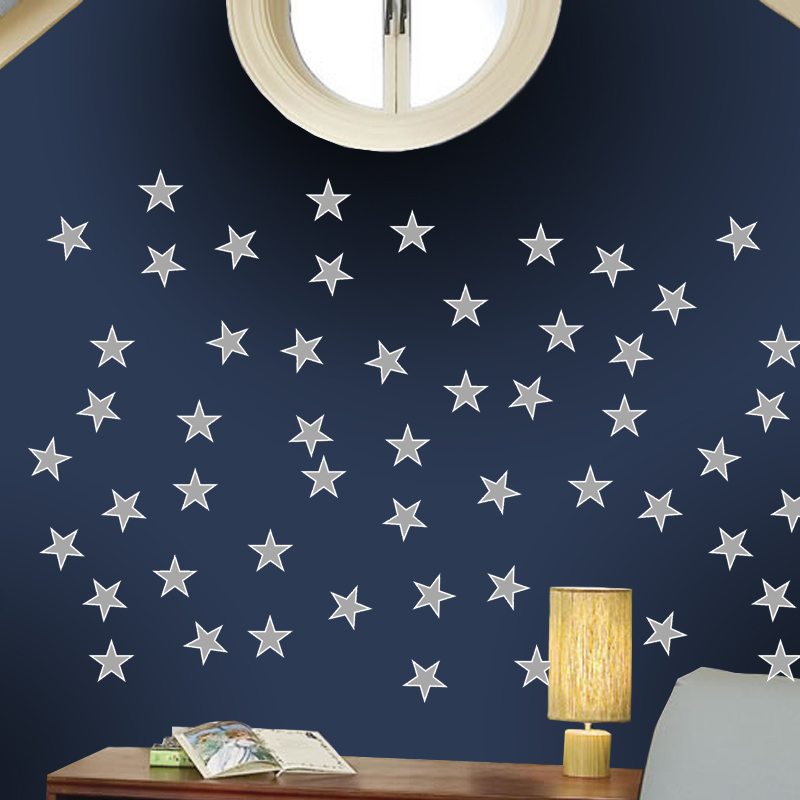 Adesivo Destacável Estrelas Cinza