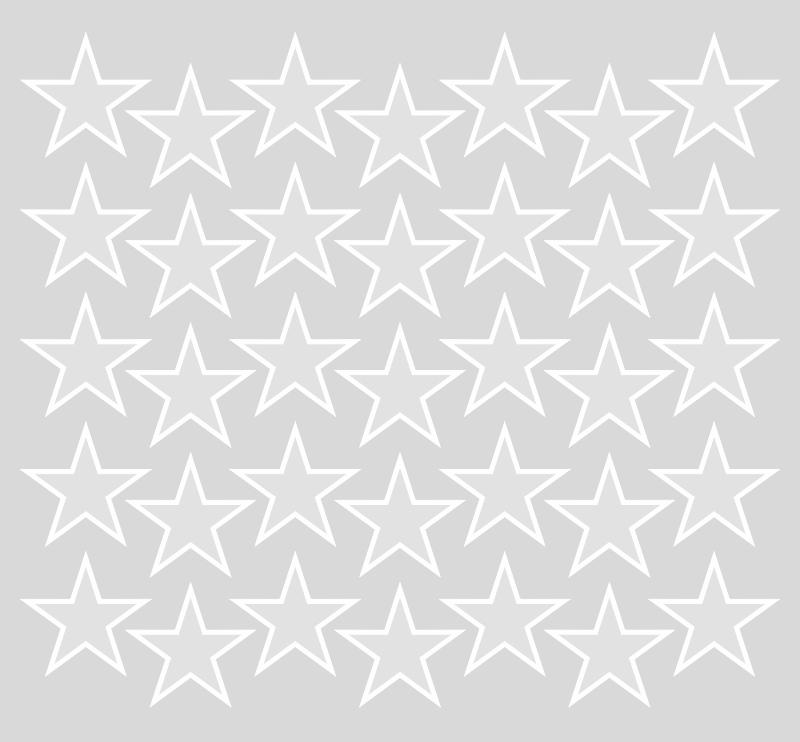 Adesivo Destacável Estrelas Cinza  - TaColado