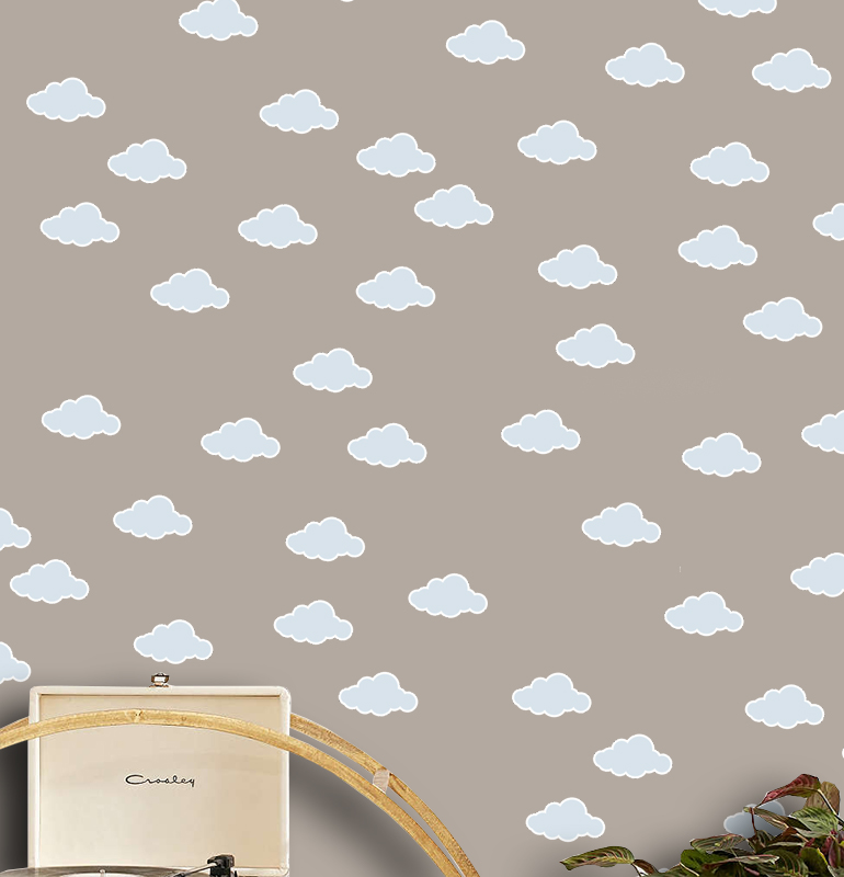 Adesivo Destacável Nuvens Azul