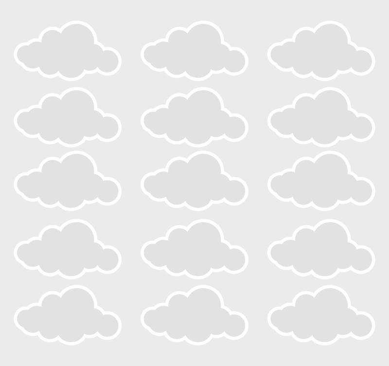 Adesivo Destacável Nuvens Cinza  - TaColado