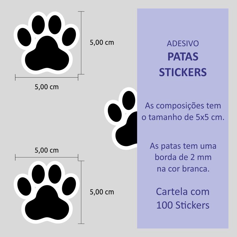 Adesivo Destacável Patas de Cachorro  - TaColado