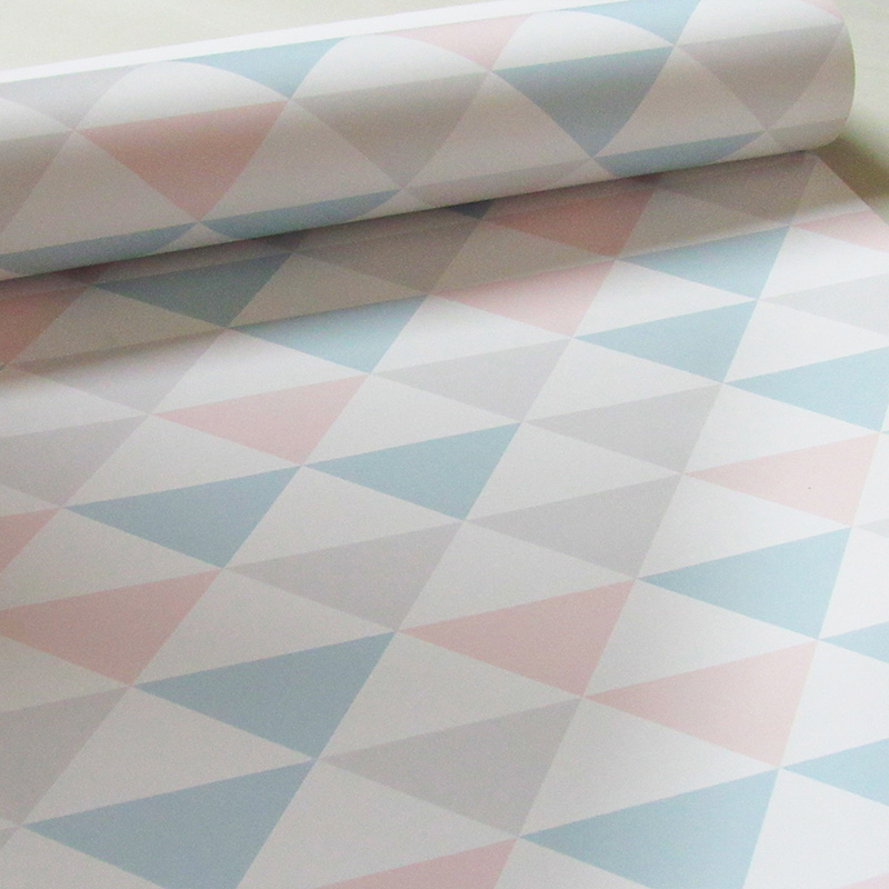 Adesivo De Unhas Para Formatura ~ Papel de Parede Quarto de Beb u00ea Geométrico Tri u00e2ngulo Colorido