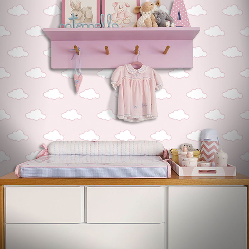 Papel de parede quarto bebe nuvem obtenha uma cole o de imagens do quarto para - Papel de pared bebe ...