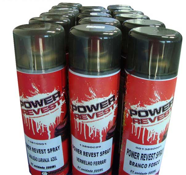 Power Revest Preto Opaco - Spray 500ml - TaColado