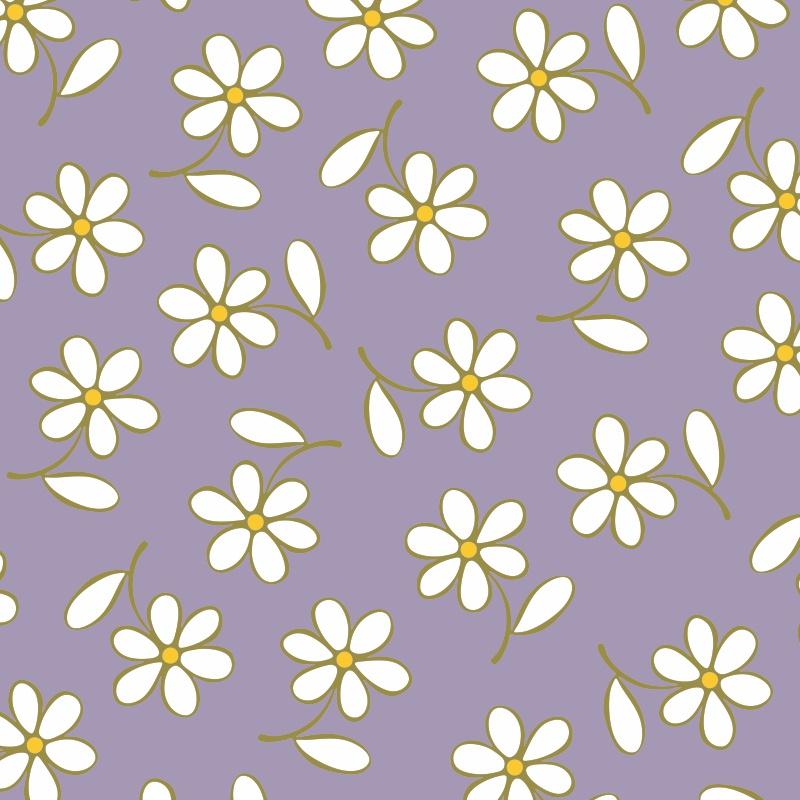 Adesivos de Parede Floral Bem Me Quer Roxo  - TaColado