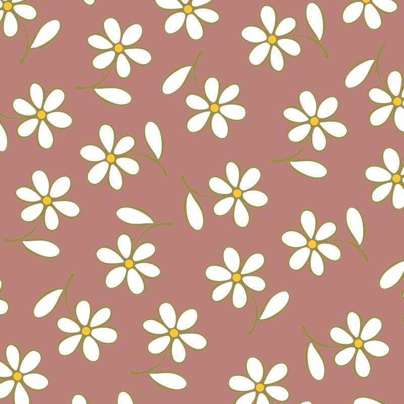 Adesivos de Parede Floral Bem Me Quer Vermelho  - TaColado