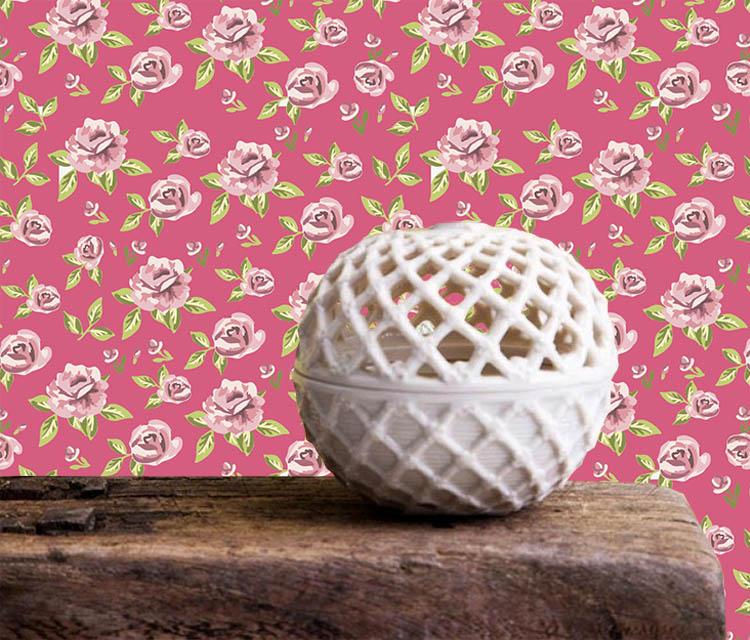 Adesivos de Parede Primavera Rosa Choque  - TaColado
