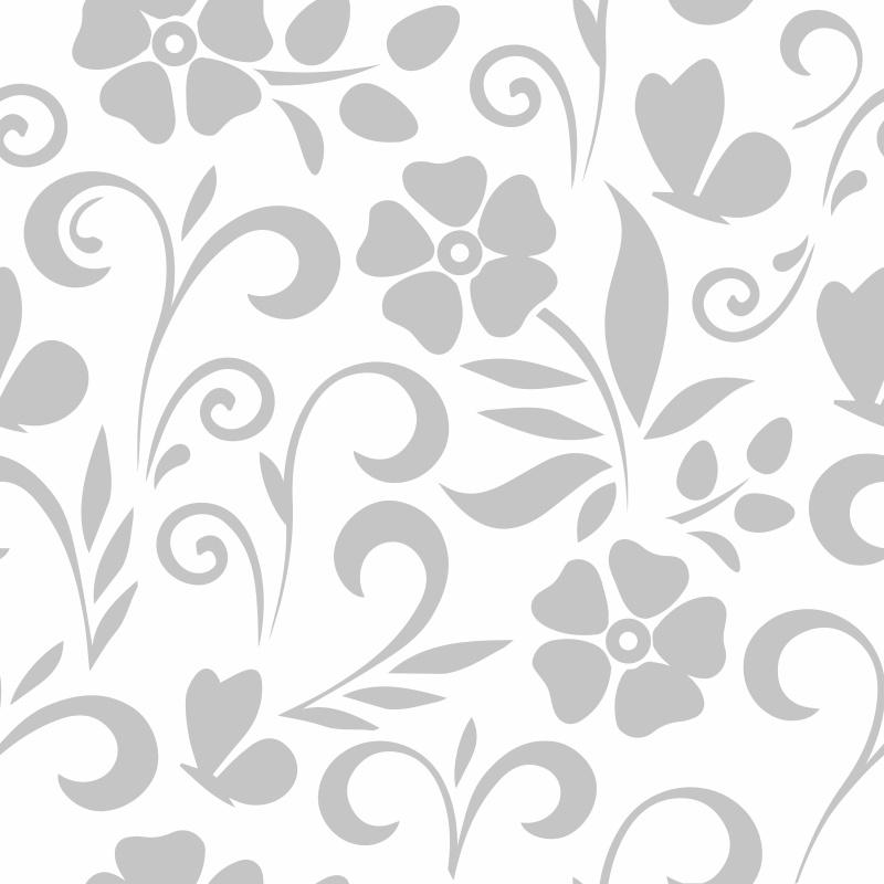 Papel de Parede Floral Alain Branco  - TaColado