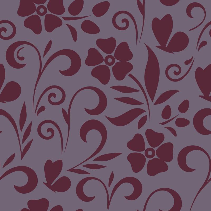 Adesivos de Parede Floral Alain Roxo  - TaColado