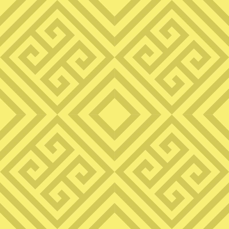 Adesivo de Parede Geométrico Kalba Amarelo  - TaColado
